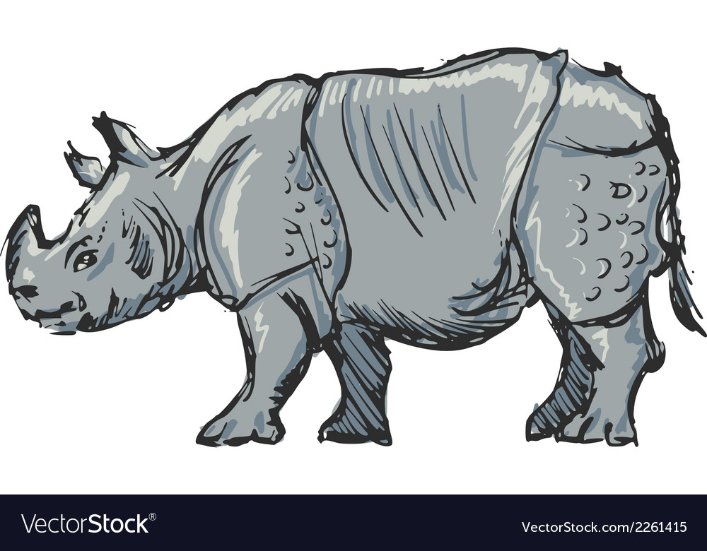 Rhinoceros vector | Price: 1 Credit (USD $1)
