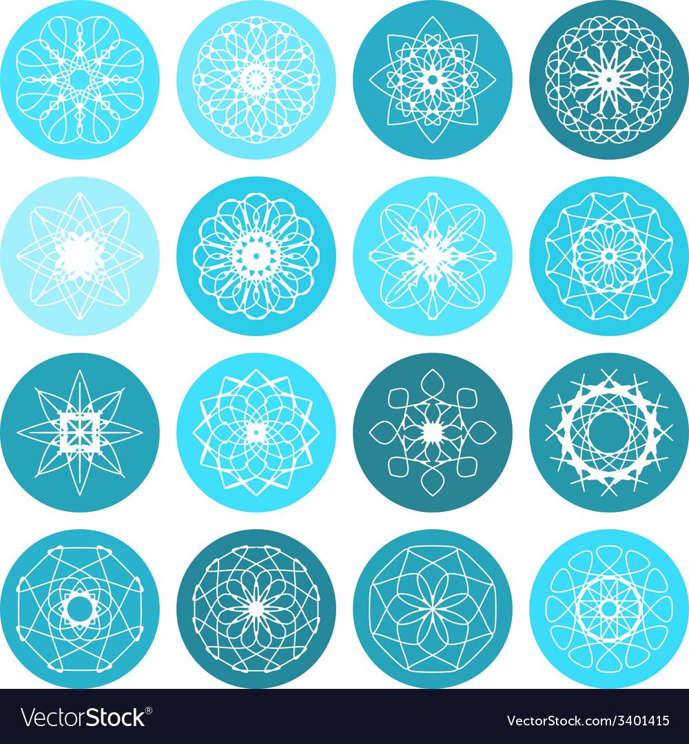Round ornament set vector | Price: 1 Credit (USD $1)