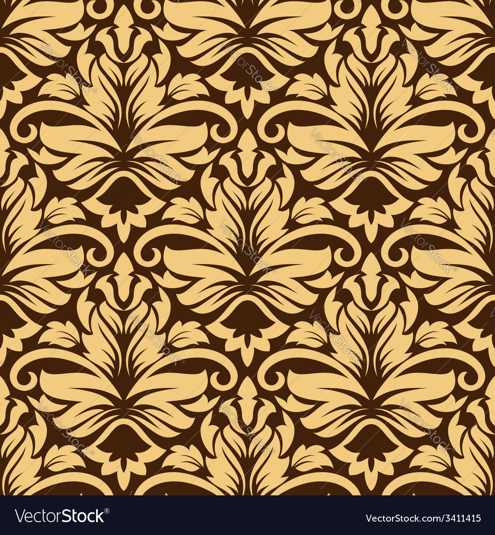 Seamless arabesque pattern in brown and beige vector | Price: 1 Credit (USD $1)