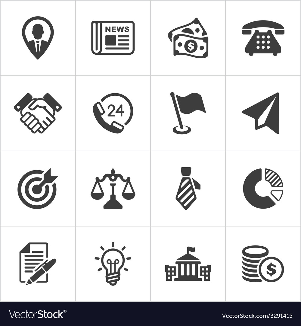 Trendy business and economics icons set 1 vector | Price: 1 Credit (USD $1)