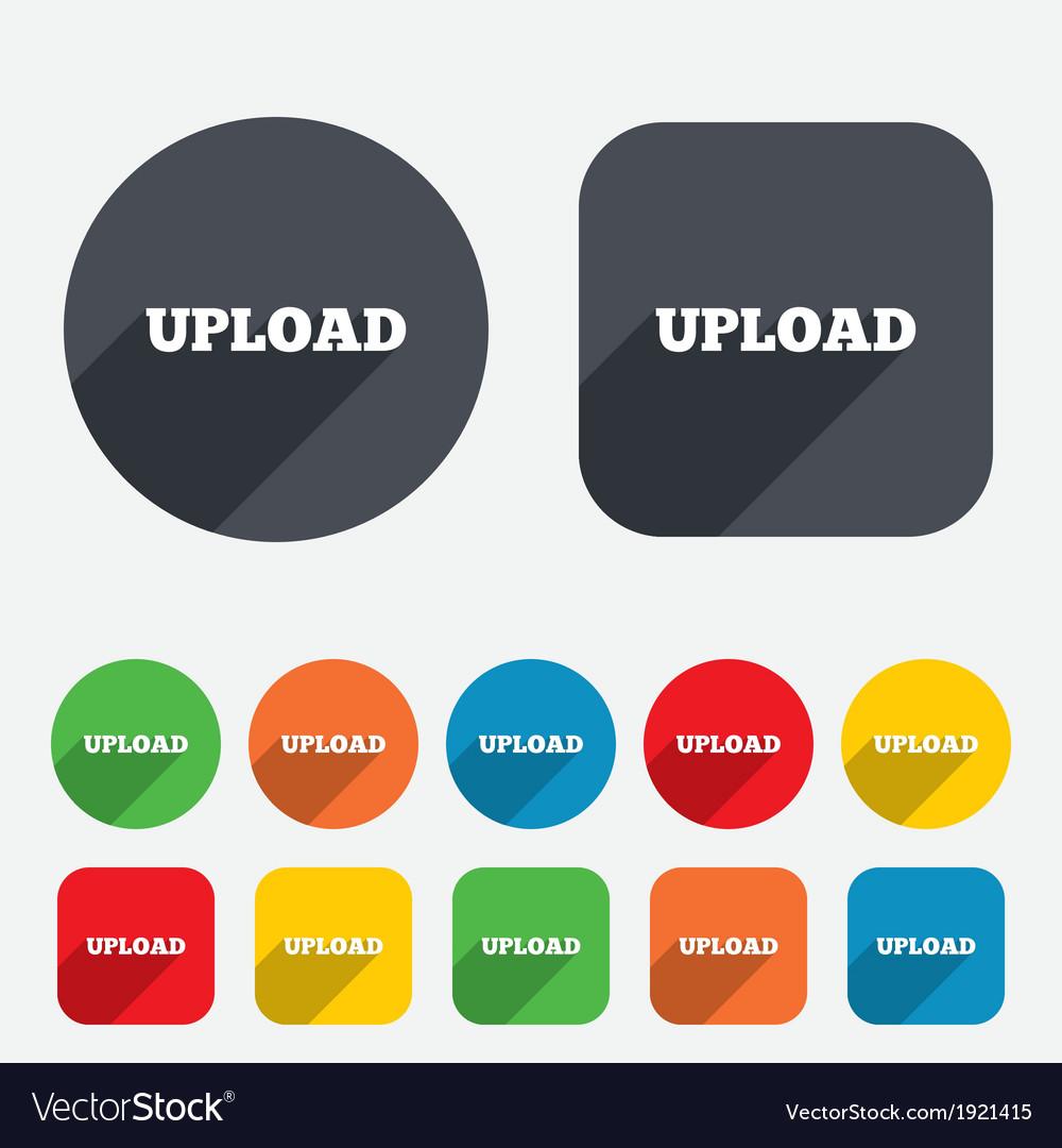 Upload sign icon load symbol vector | Price: 1 Credit (USD $1)