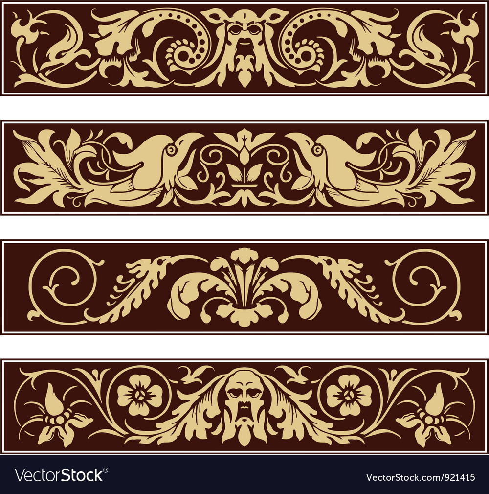 Victorian ornamental vintage decoration border vector | Price: 1 Credit (USD $1)