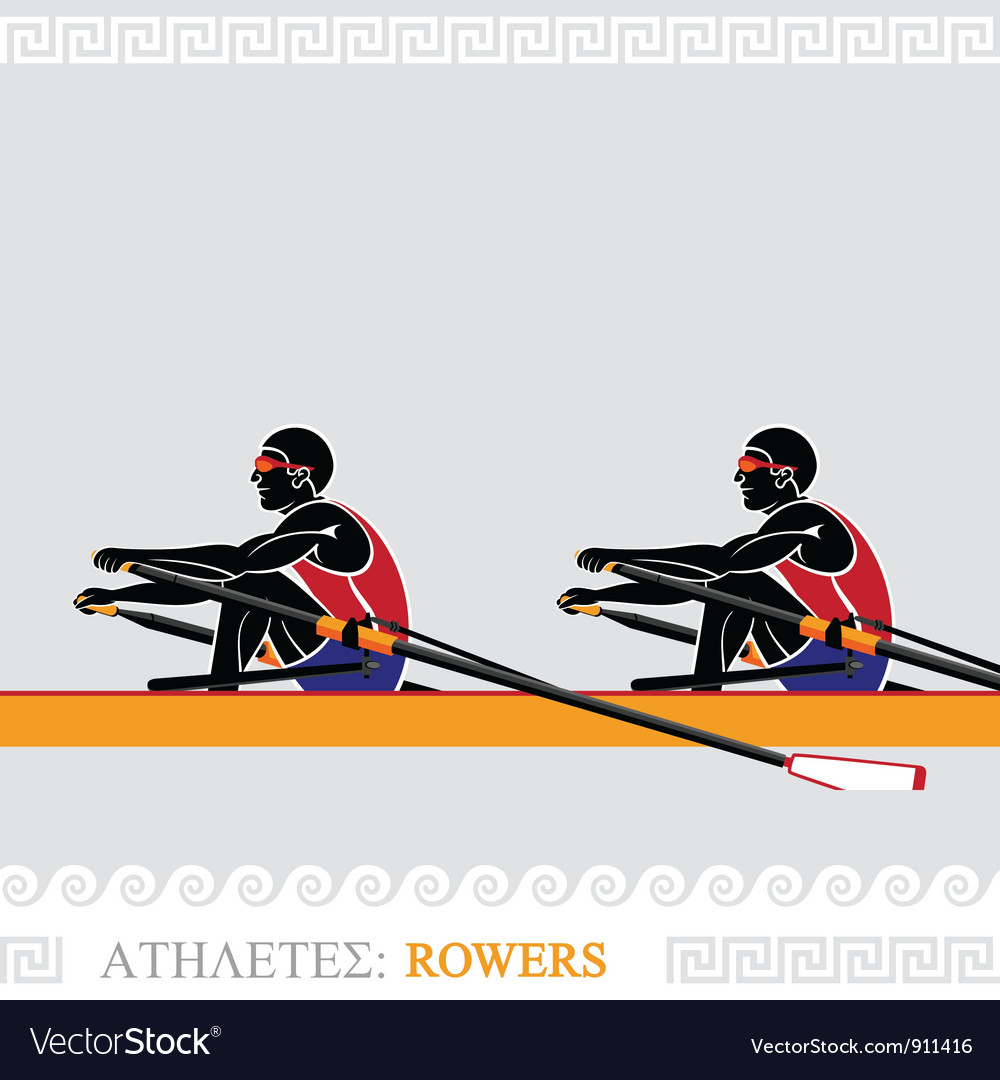 Athlete rowers vector | Price: 1 Credit (USD $1)