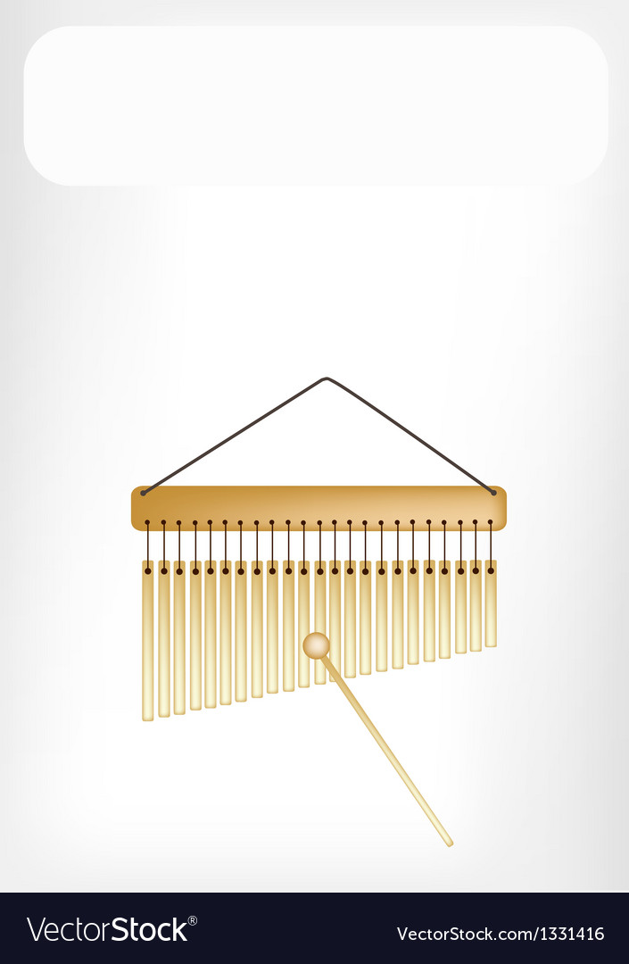 Beautiful musical bar chimes with a white banner vector | Price: 1 Credit (USD $1)