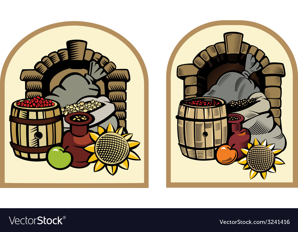 Cellar with products vector | Price: 1 Credit (USD $1)