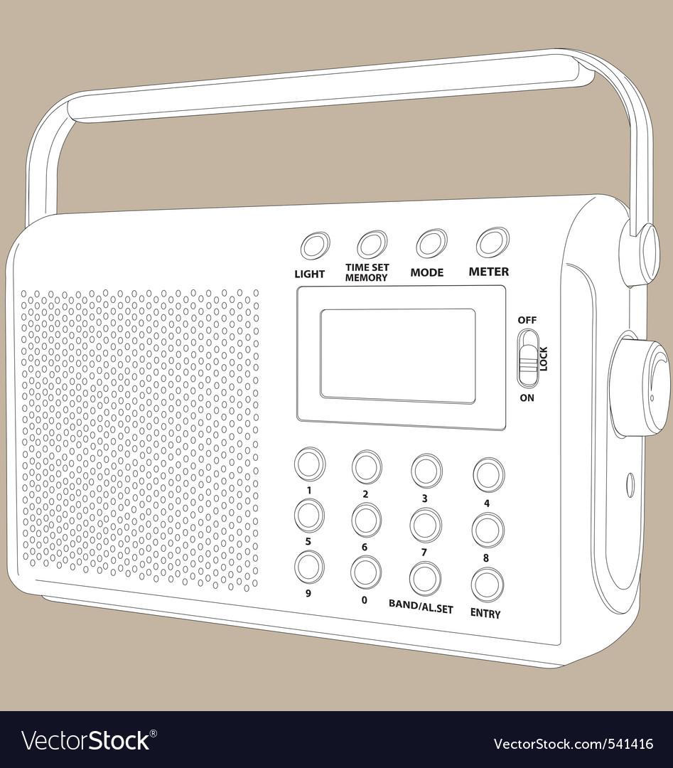 Digital radio vector | Price: 1 Credit (USD $1)