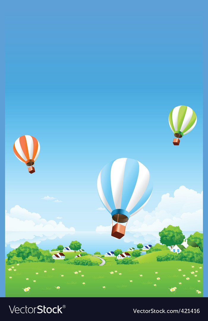 Hot air balloons vector | Price: 3 Credit (USD $3)