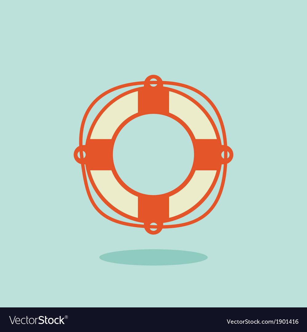Life buoy icon vector | Price: 1 Credit (USD $1)