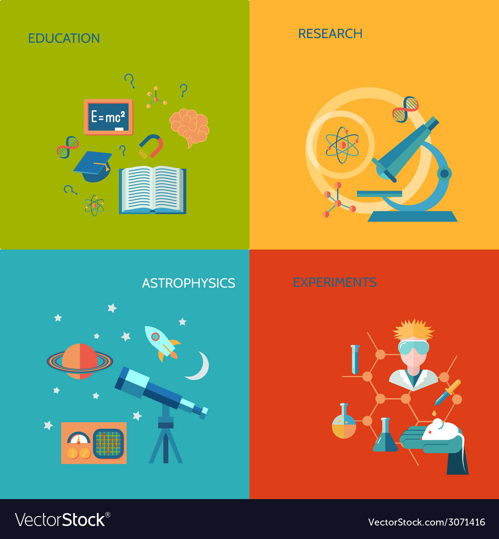 Science and research flat vector | Price: 1 Credit (USD $1)