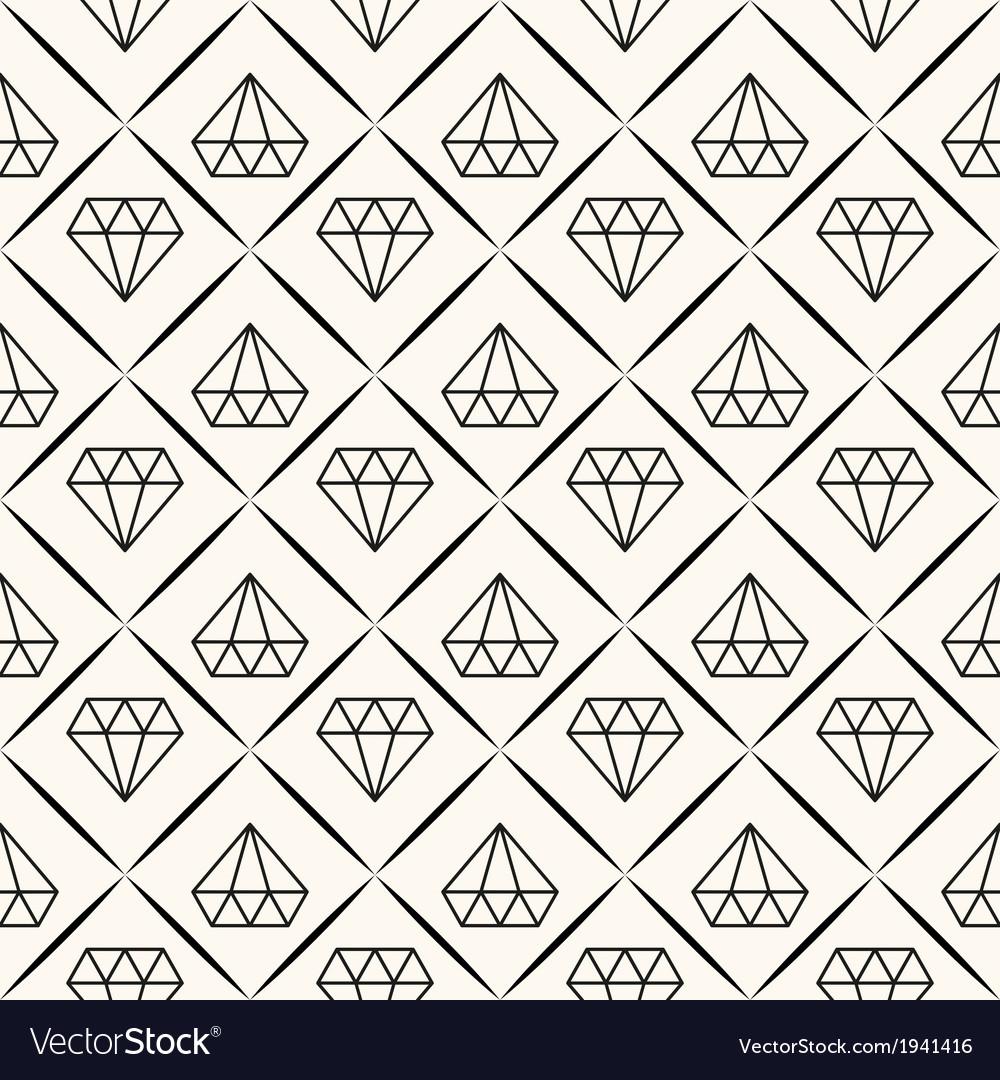 Seamless retro pattern with diamonds vector | Price: 1 Credit (USD $1)