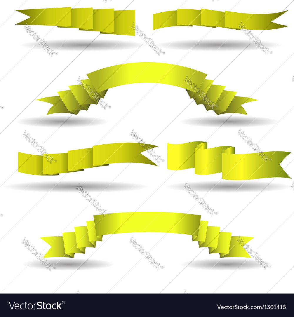 Set of yellow banners vector | Price: 1 Credit (USD $1)