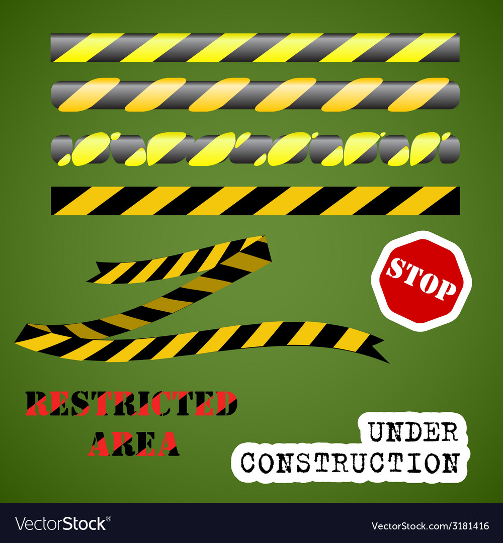 Under construction set vector | Price: 1 Credit (USD $1)
