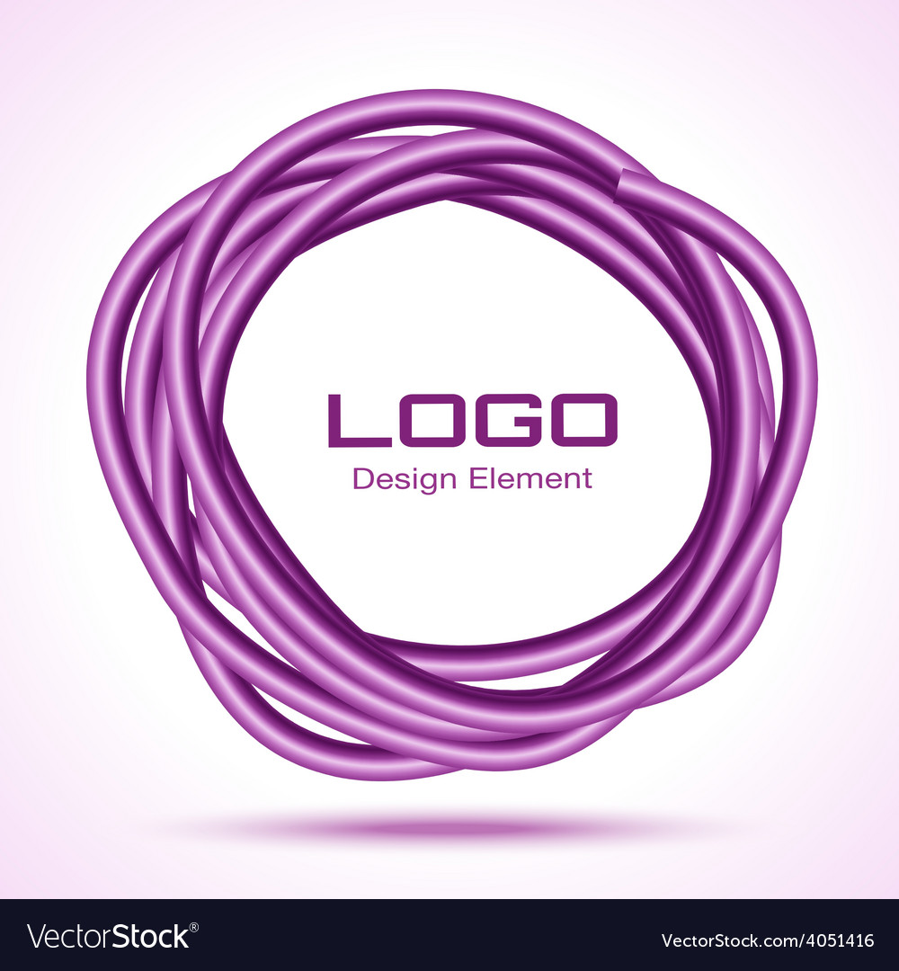 Violet hand drawn thick ware circle vector | Price: 1 Credit (USD $1)