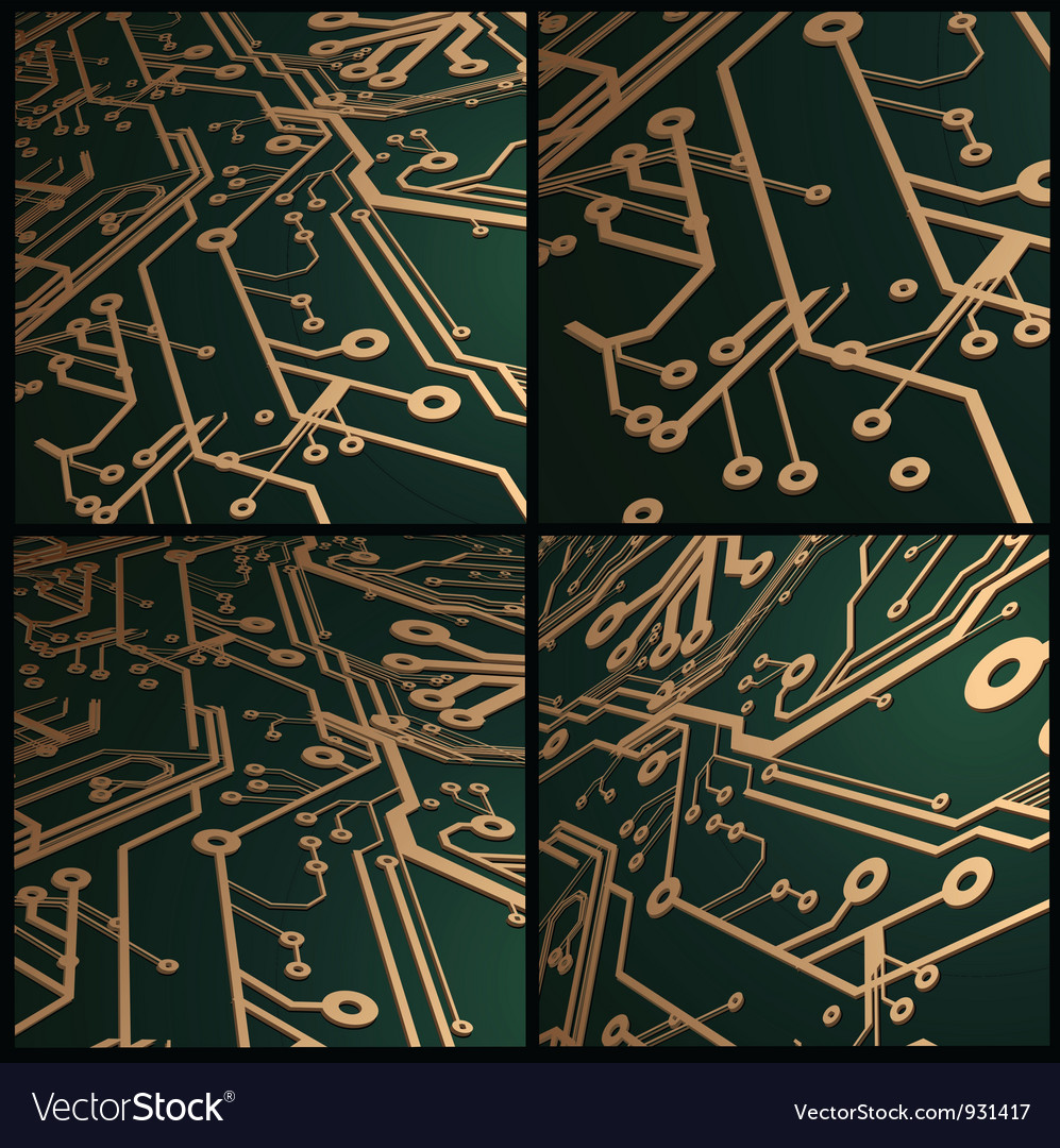 3d circuit board background vector | Price: 1 Credit (USD $1)