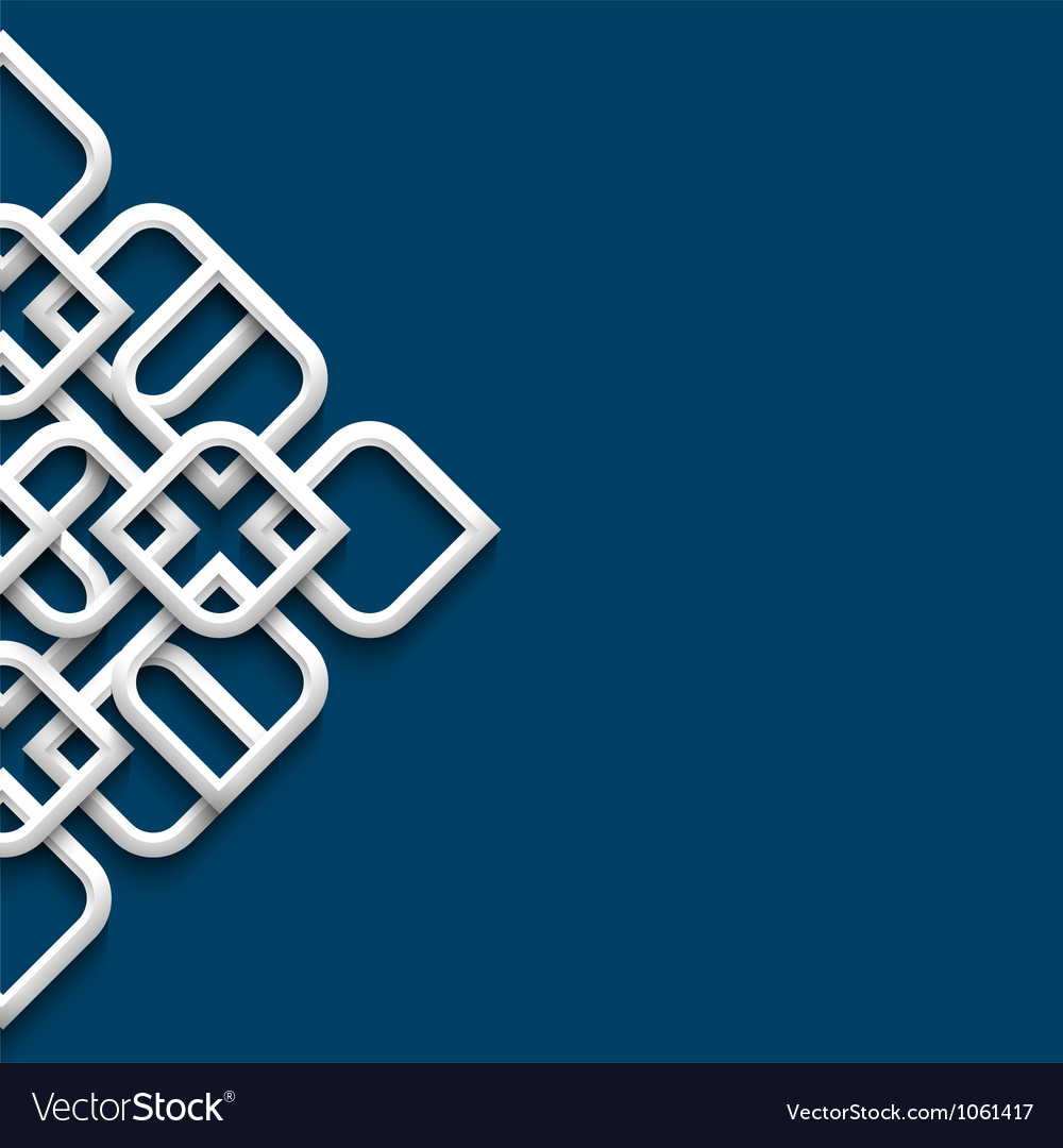 3d white ornament in arabic style vector | Price: 1 Credit (USD $1)