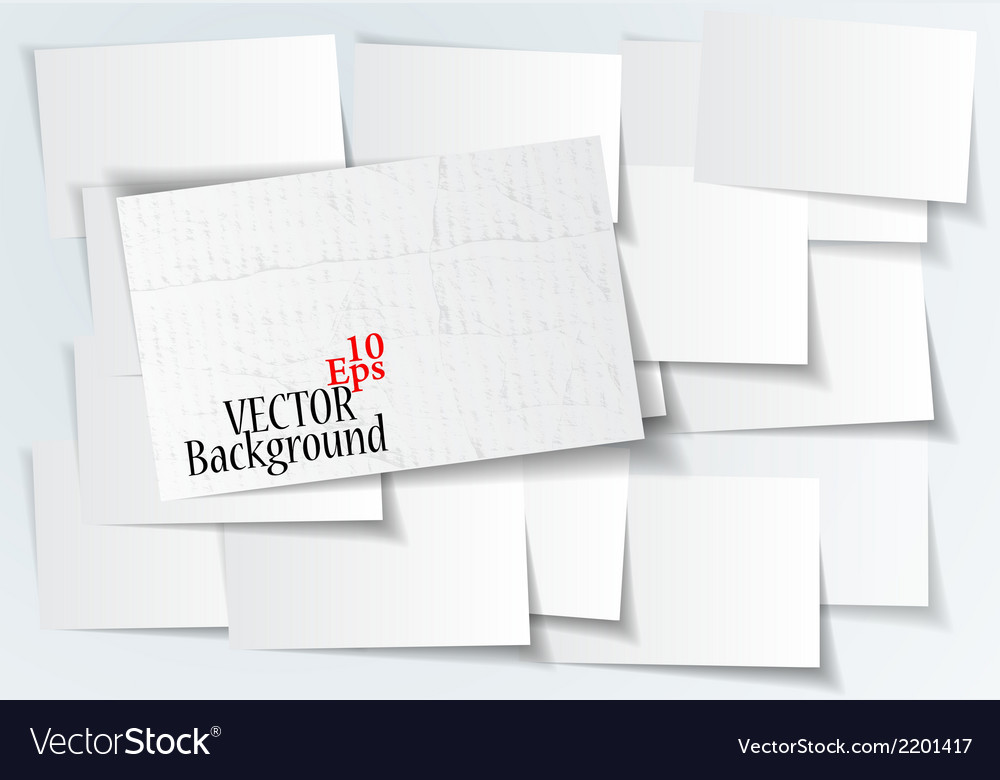 Abstract paper sticker on white background vector | Price: 1 Credit (USD $1)