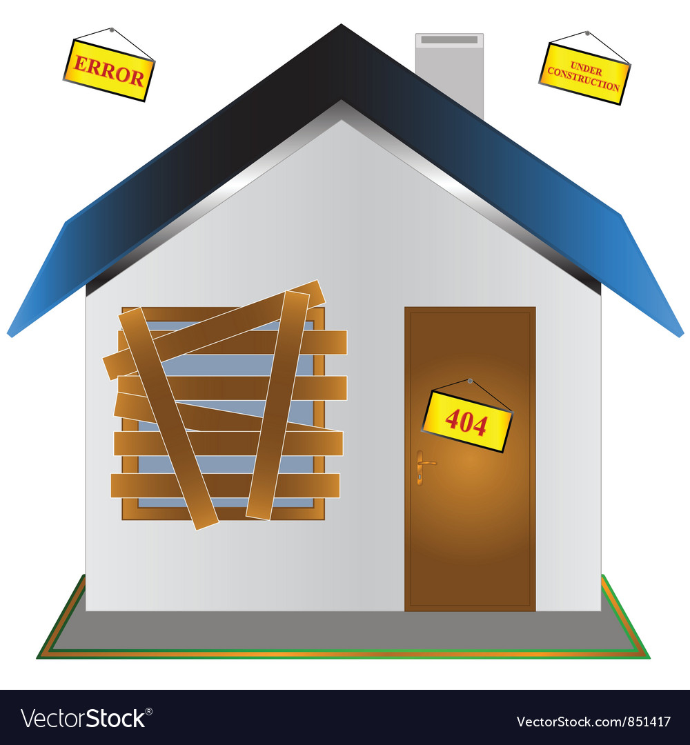 The closed house vector | Price: 1 Credit (USD $1)