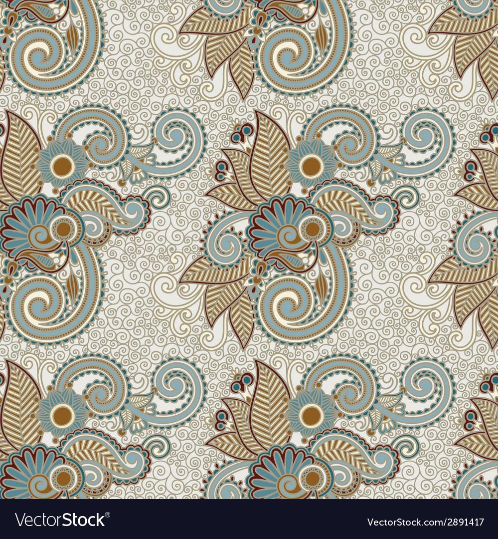 Digital drawing ornate seamless flower paisley vector | Price: 1 Credit (USD $1)