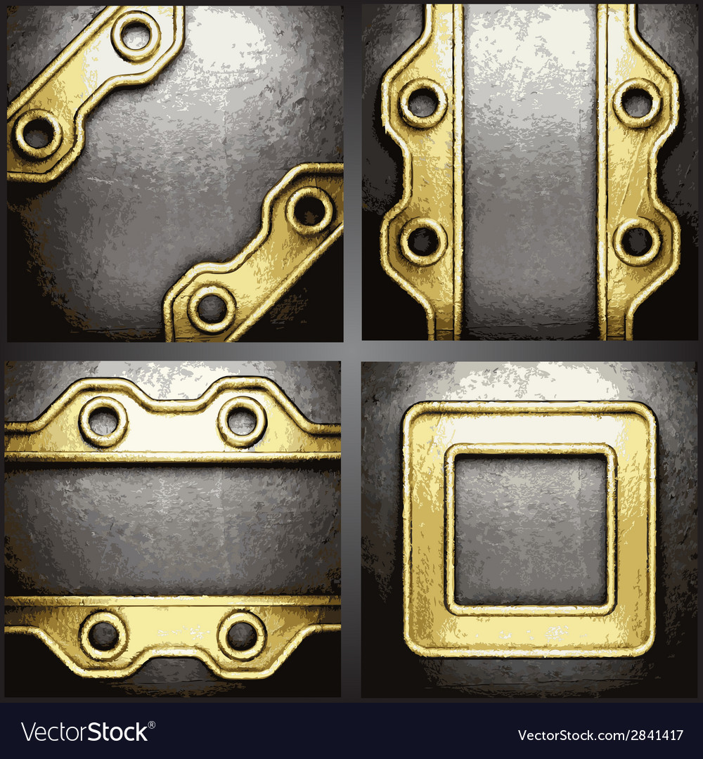 Gold and silver background set vector | Price: 1 Credit (USD $1)