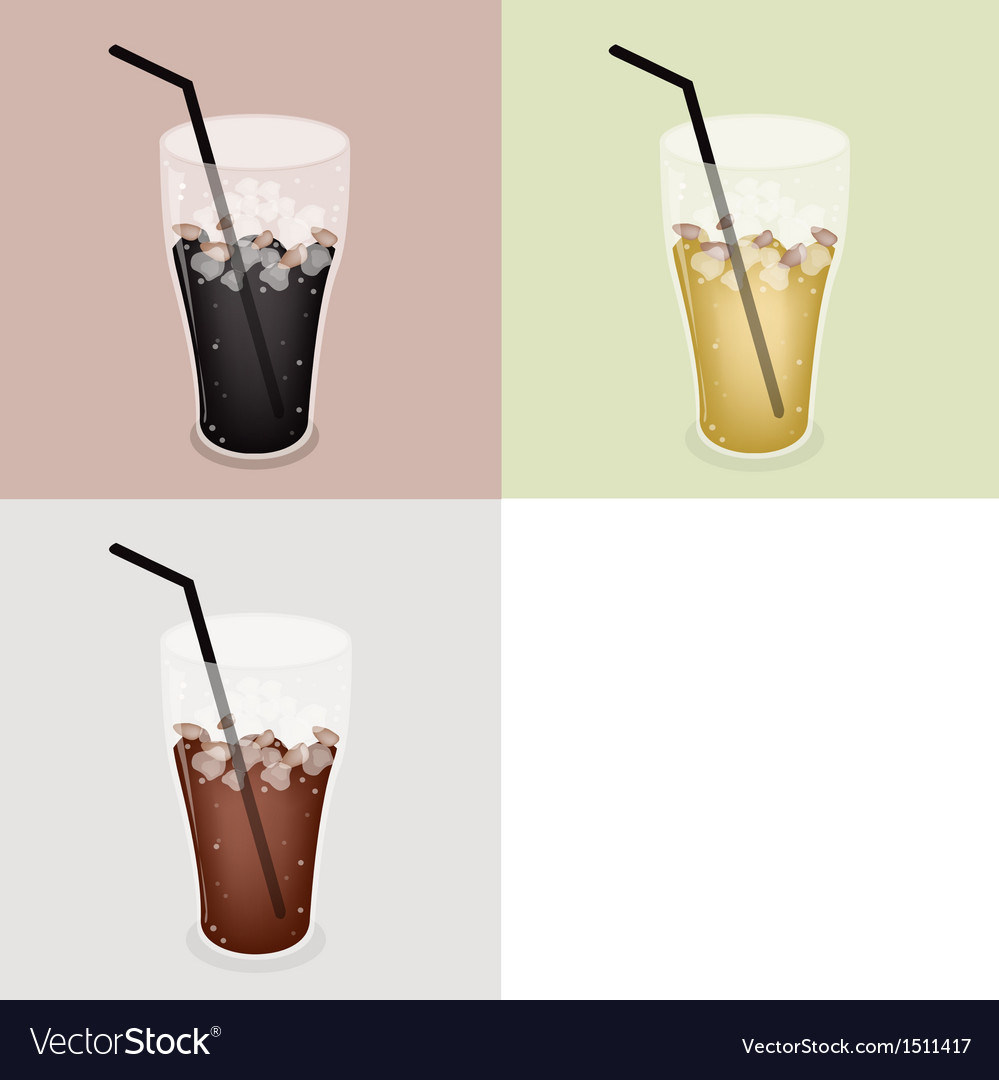 Iced coffee background vector | Price: 1 Credit (USD $1)