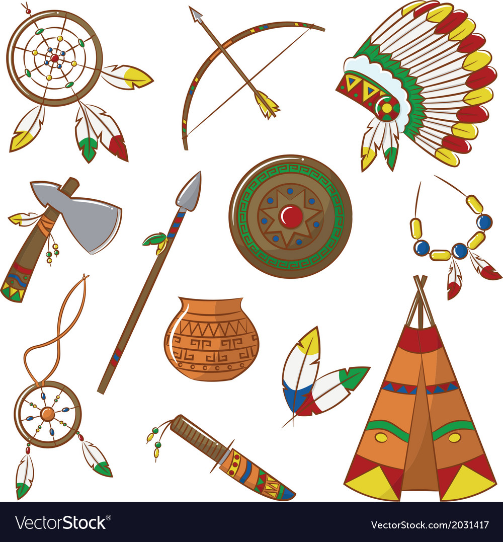 Native american elements vector | Price: 1 Credit (USD $1)
