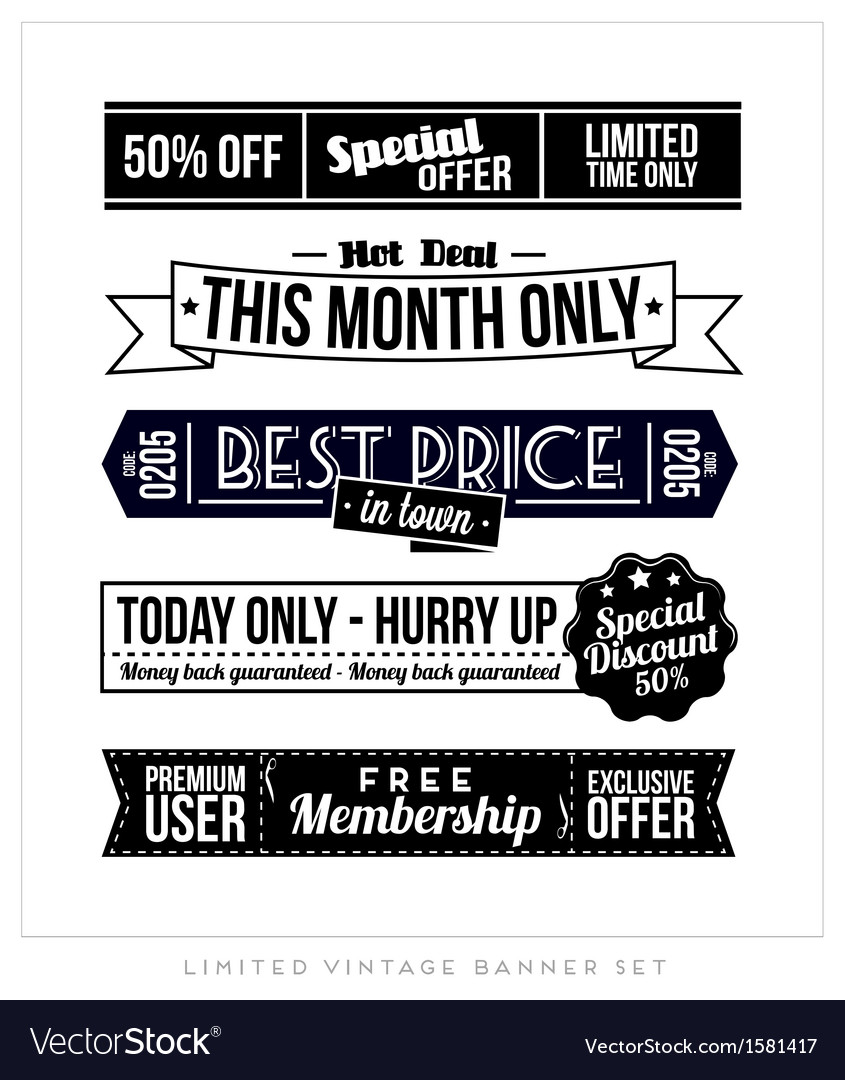 Retro vintage typographic business banner design vector | Price: 1 Credit (USD $1)