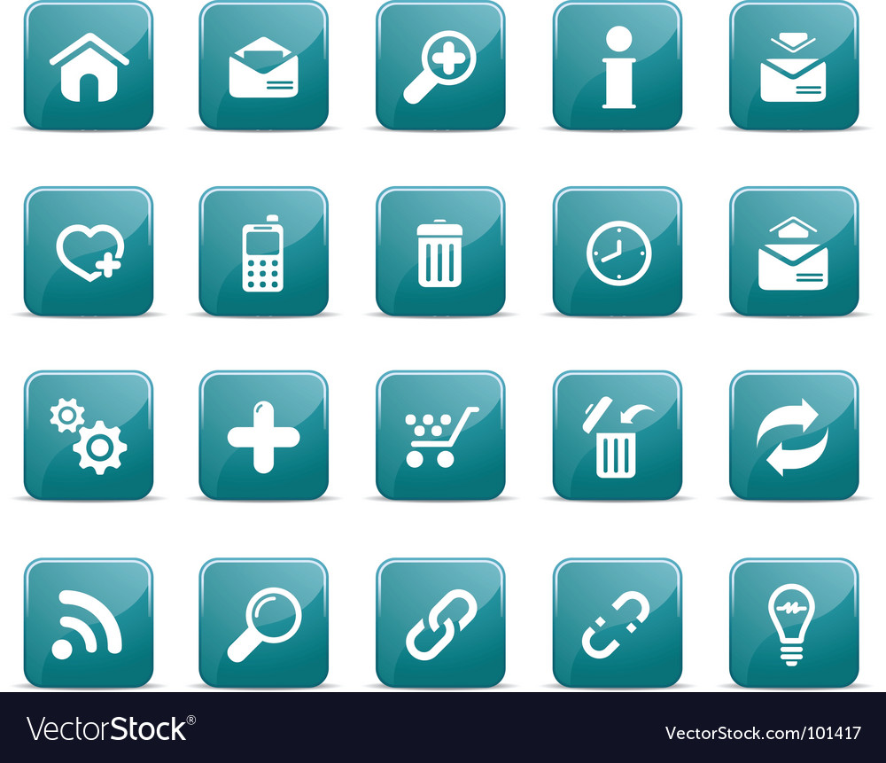 Web icons glossy blue blue vector | Price: 1 Credit (USD $1)