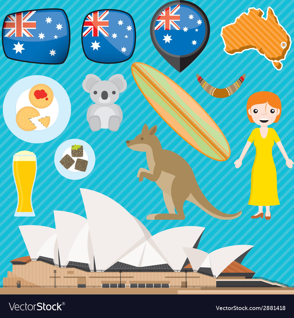 Australia vector | Price: 1 Credit (USD $1)