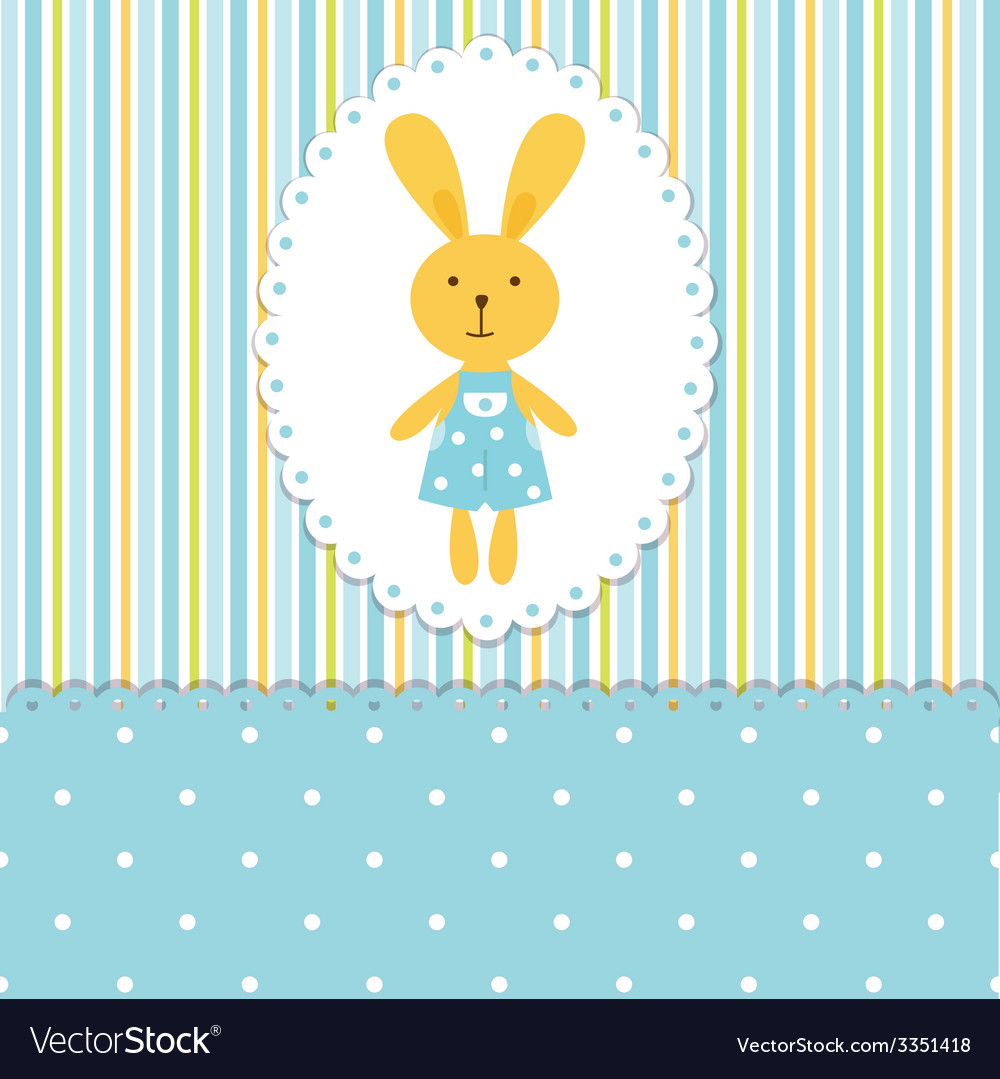 Background with rabbit boy vector | Price: 1 Credit (USD $1)