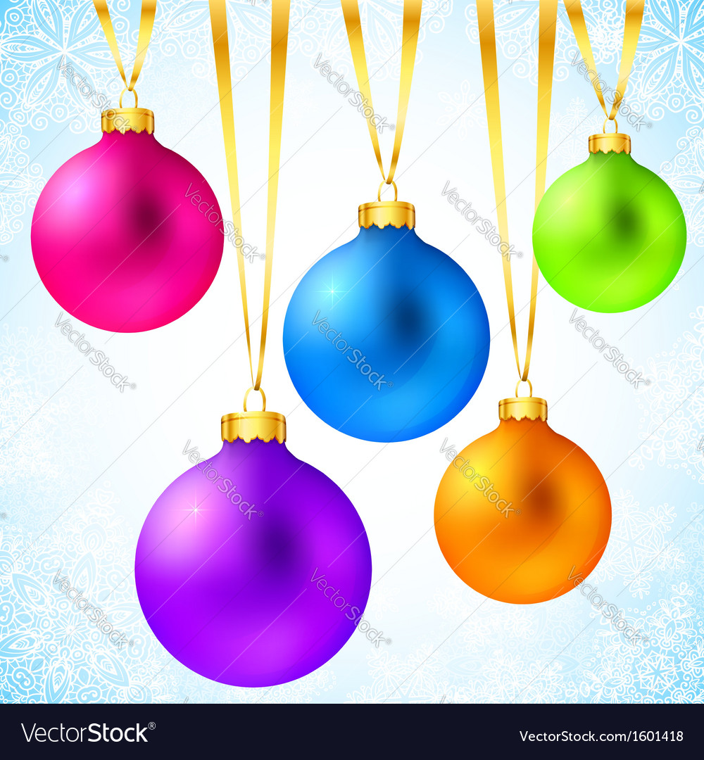 Bright colorful rainbow christmas balls vector | Price: 1 Credit (USD $1)