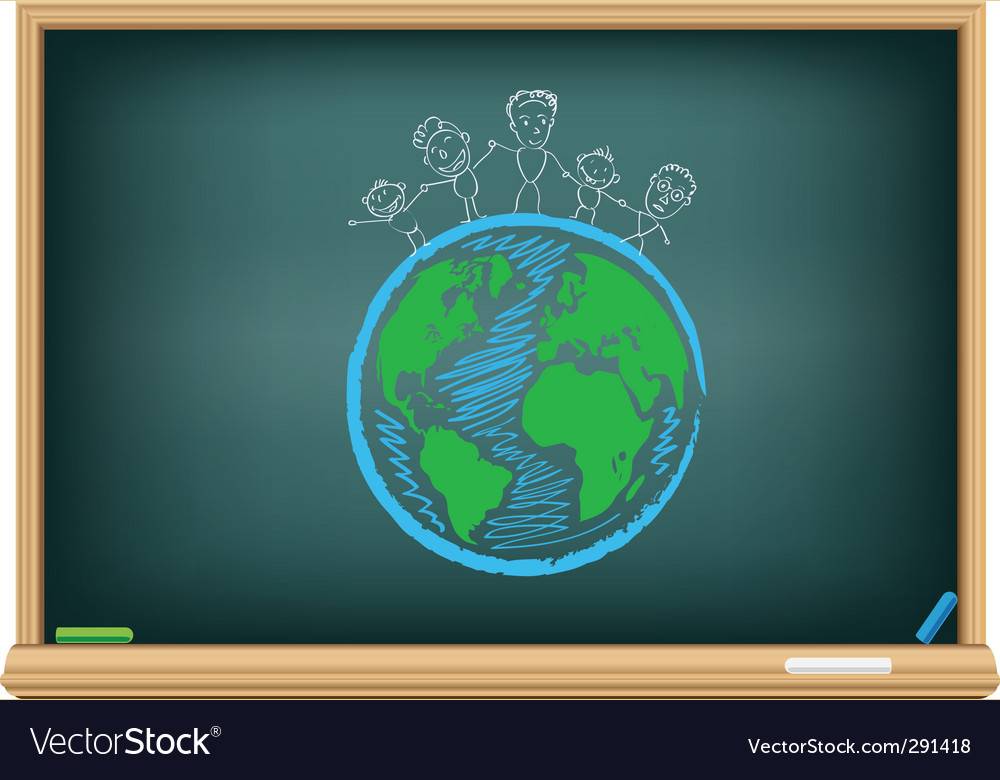 Children and earth vector | Price: 1 Credit (USD $1)