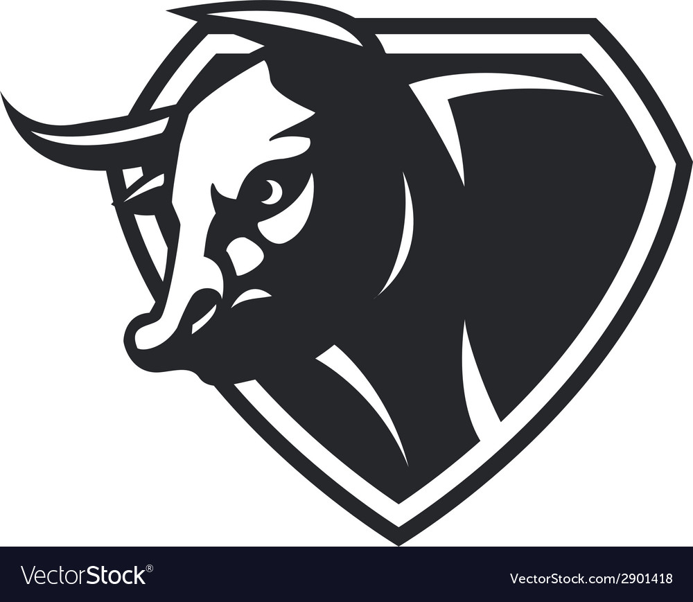 Cow head vector | Price: 1 Credit (USD $1)
