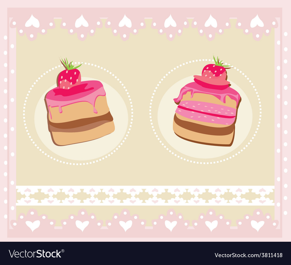 Lovely pattern with cake design vector | Price: 1 Credit (USD $1)