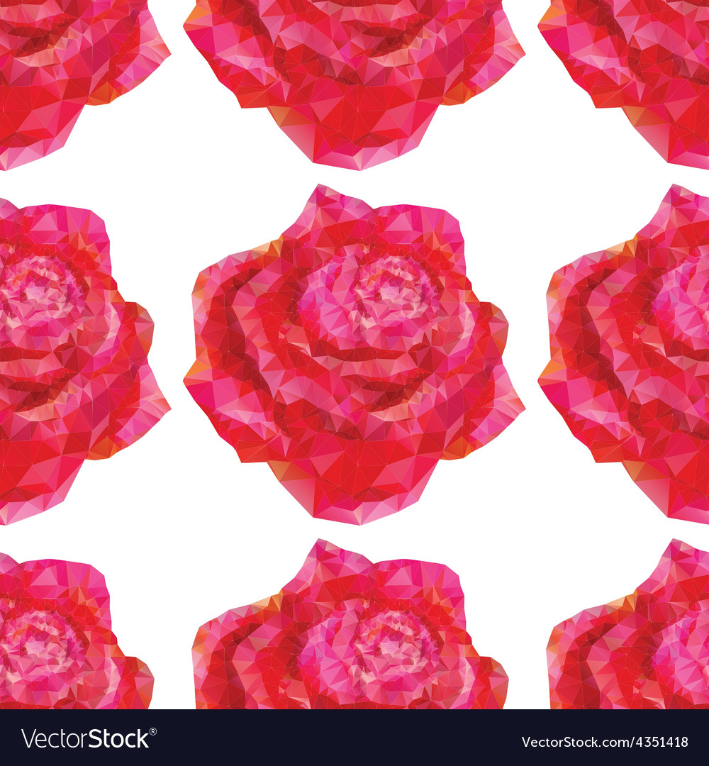 Seamless roses ornament vector | Price: 1 Credit (USD $1)