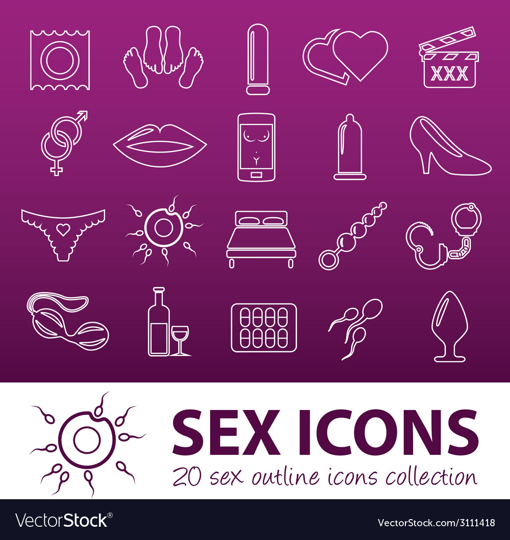 Sex outline icons vector | Price: 1 Credit (USD $1)