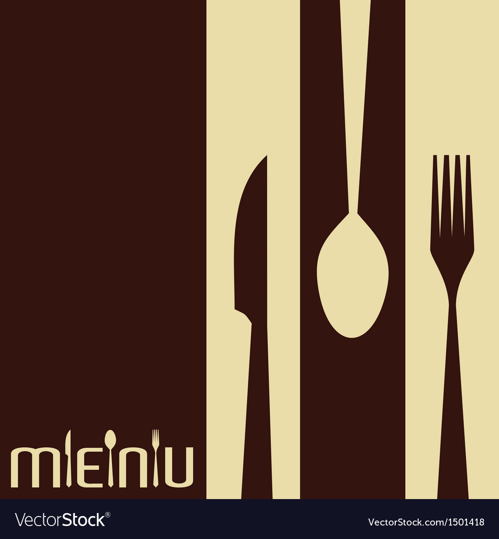 Template for menu card with cutlery vector   Price: 1 Credit (USD $1)
