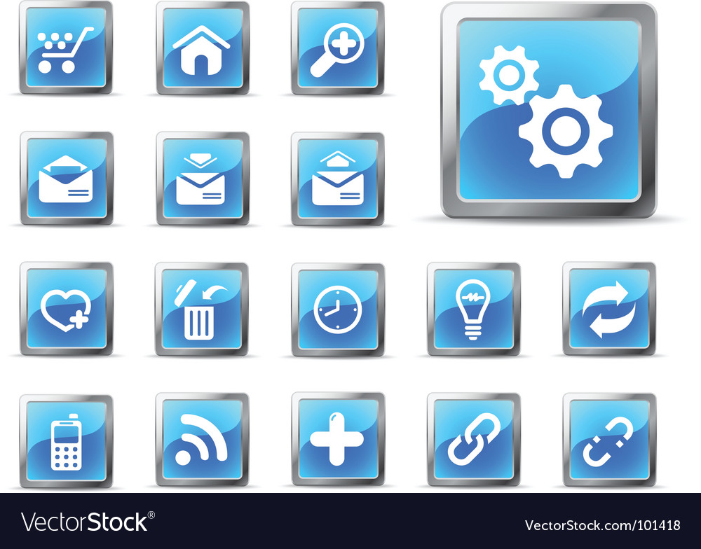 Web icons glossy blue vector | Price: 1 Credit (USD $1)