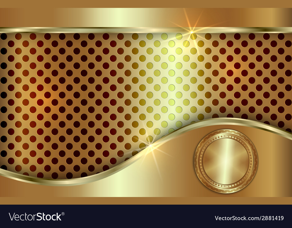Abstract golden background with curve in tabloid vector | Price: 1 Credit (USD $1)