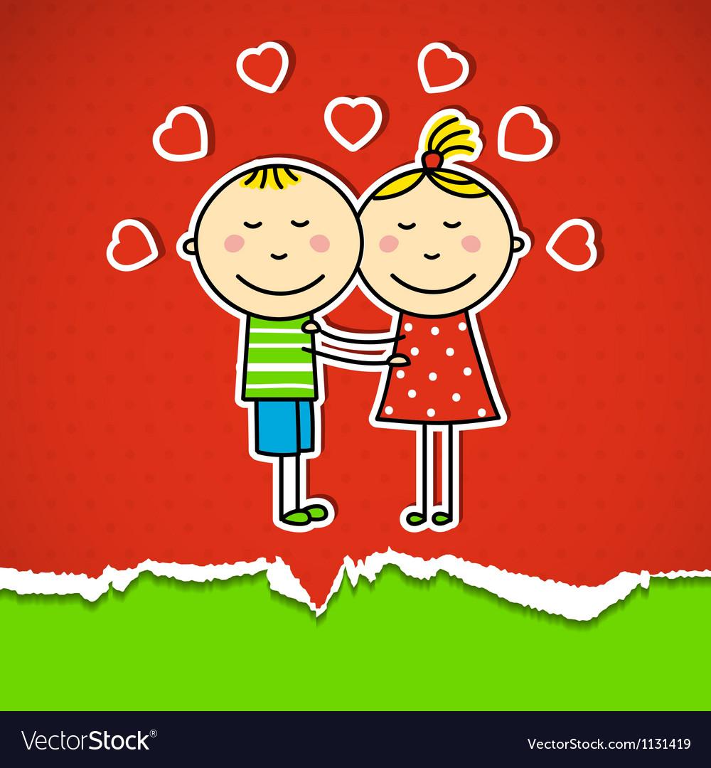 Children in love vector   Price: 1 Credit (USD $1)