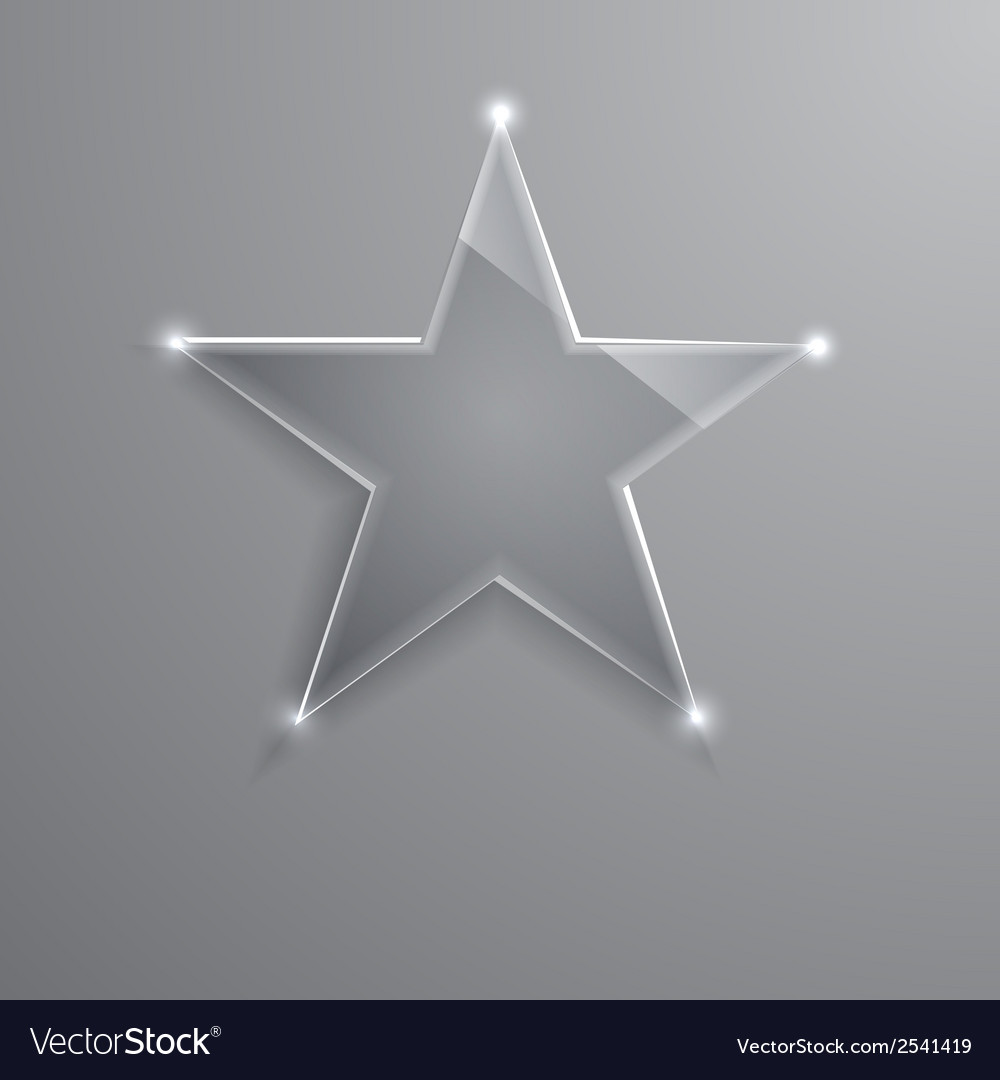 Frame glass star  eps10 vector | Price: 1 Credit (USD $1)