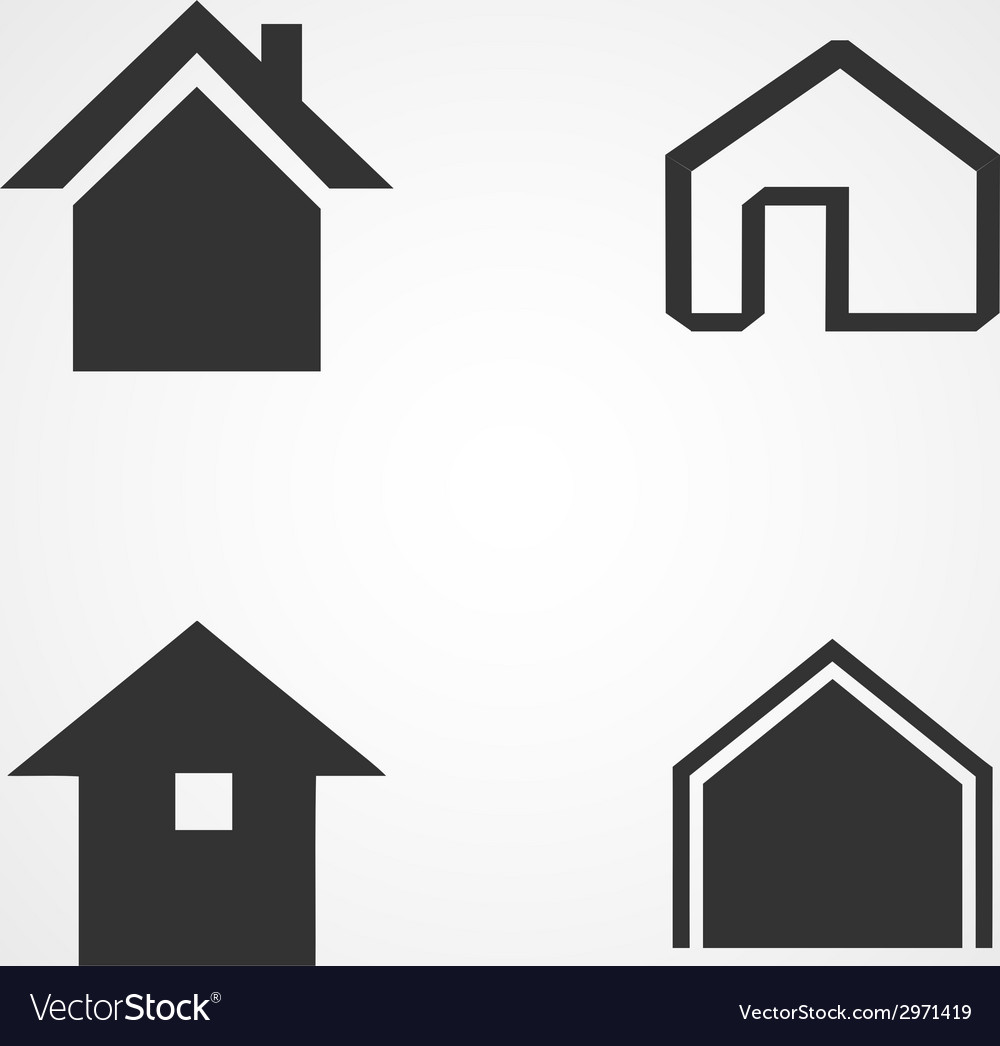 House icons set flat design vector | Price: 1 Credit (USD $1)