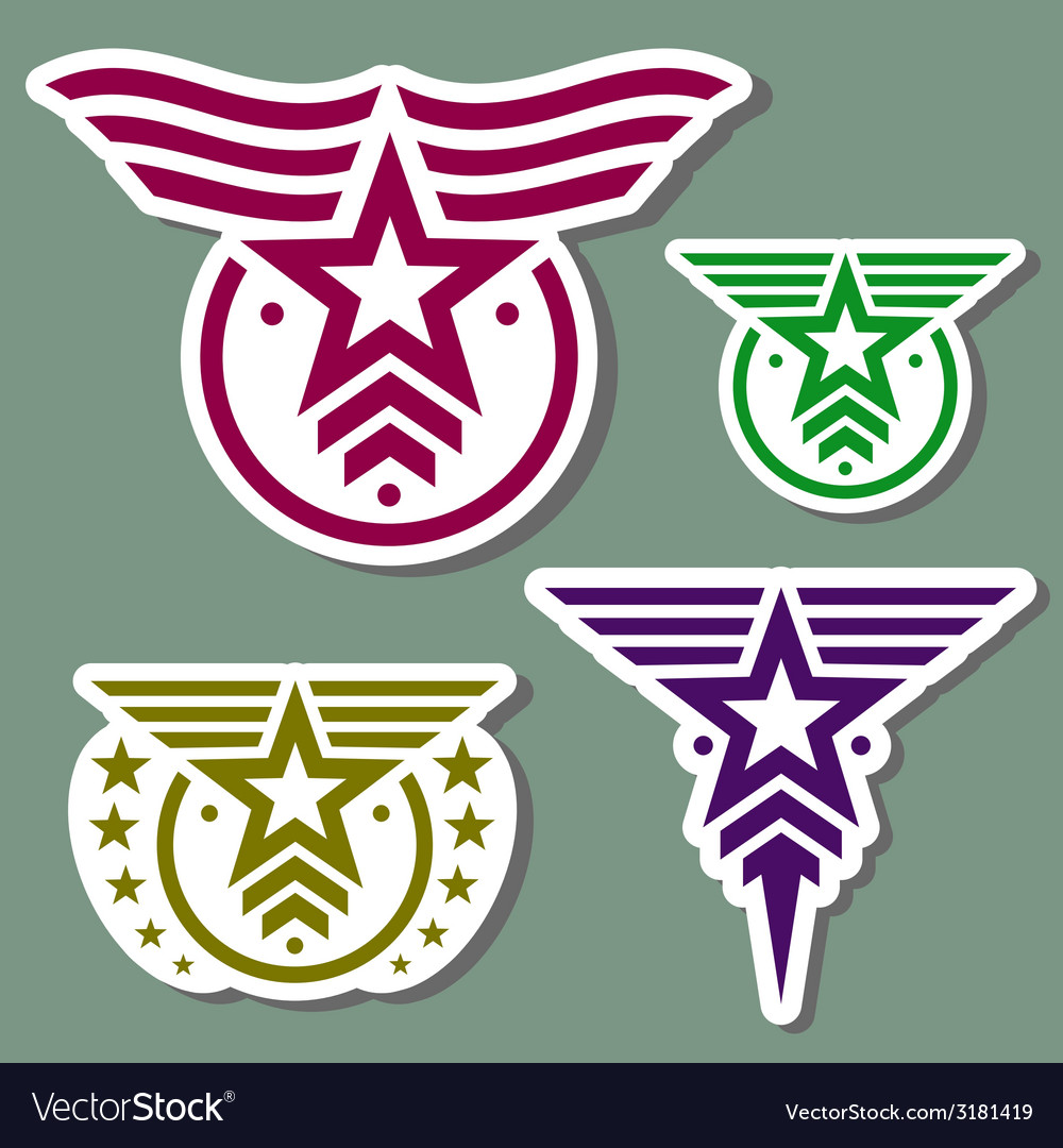 Military style logo set vector | Price: 1 Credit (USD $1)