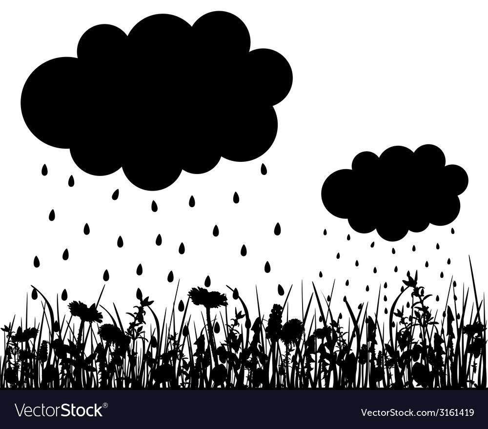 Rainy weather vector | Price: 1 Credit (USD $1)