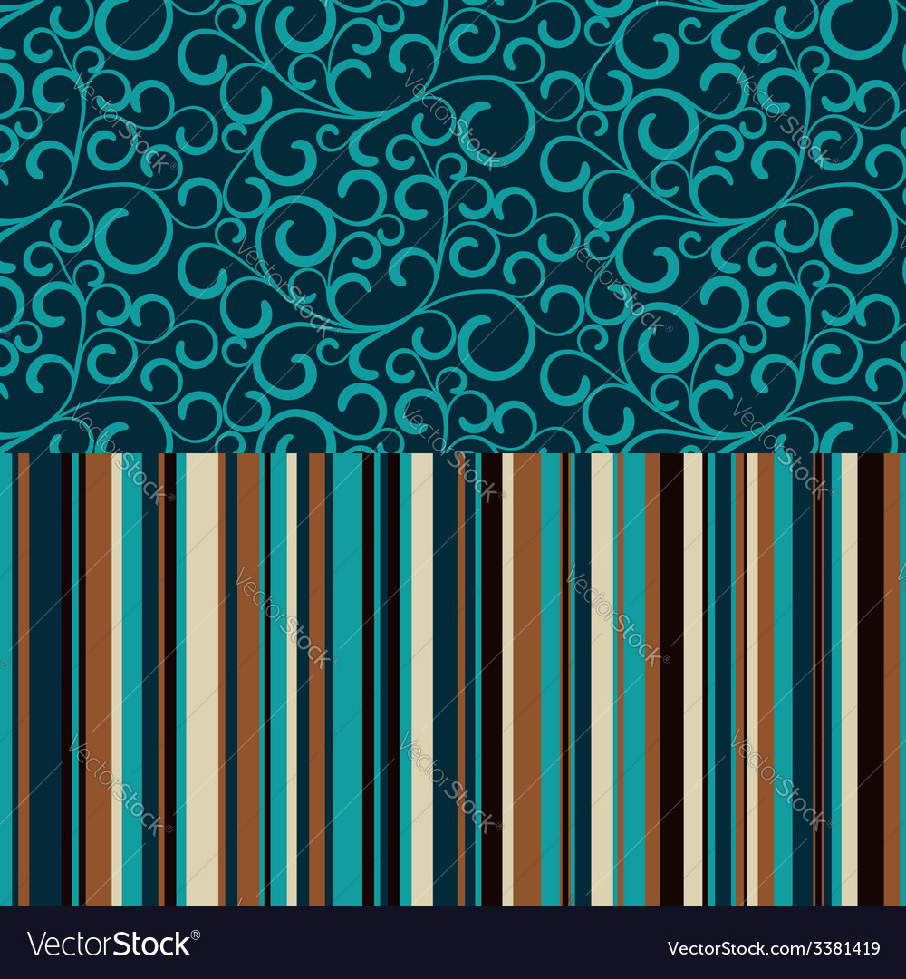 Retro seamless pattern with color stripes vector | Price: 1 Credit (USD $1)