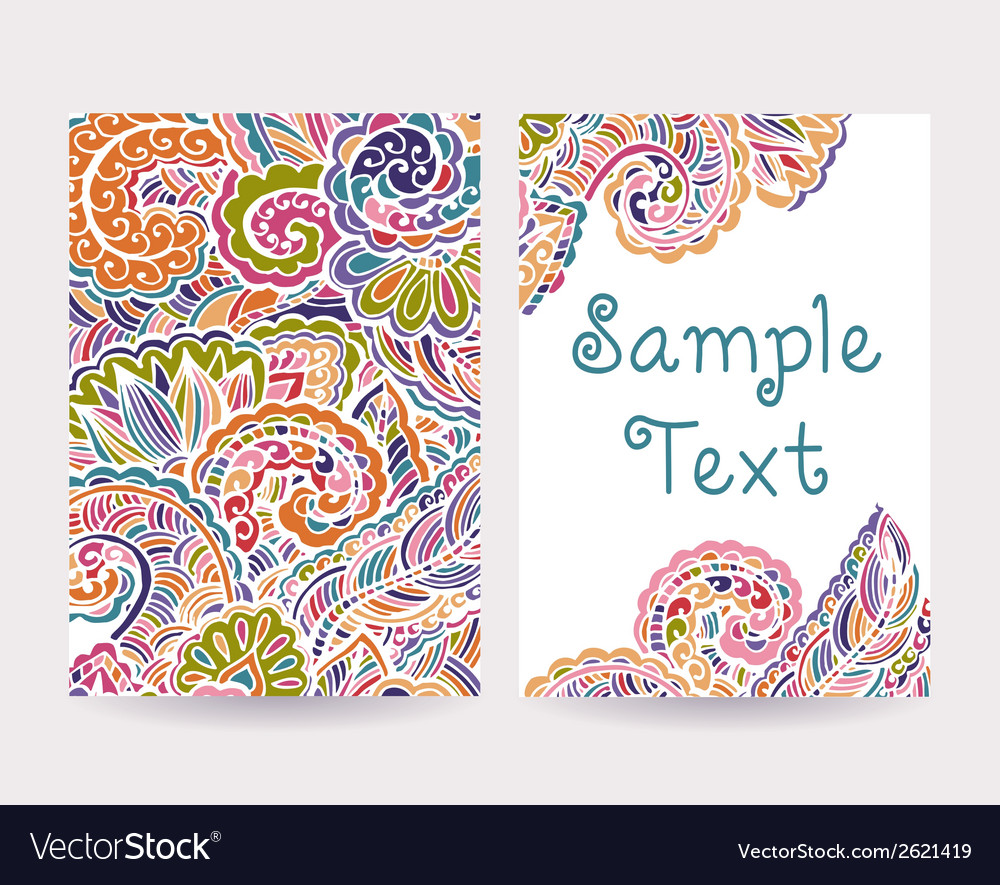Set of decorative cards 2 vector | Price: 1 Credit (USD $1)