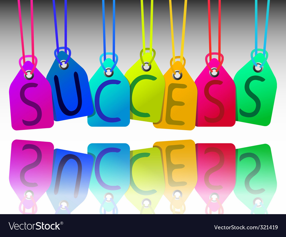 Success tags vector | Price: 1 Credit (USD $1)