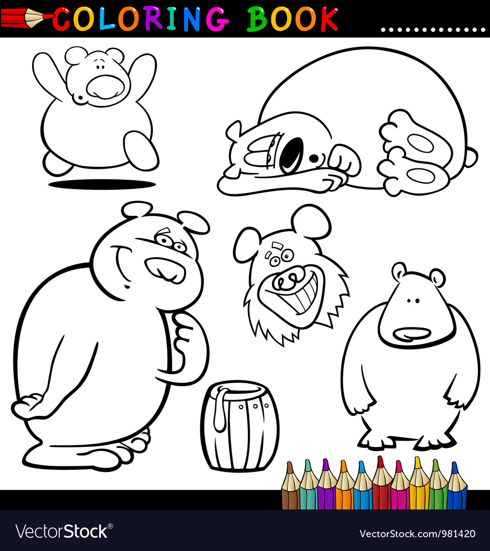 Animals for coloring book or page vector | Price: 1 Credit (USD $1)