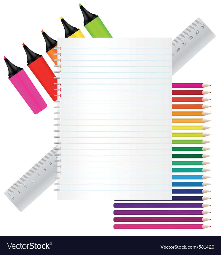 Back to school stationery vector | Price: 3 Credit (USD $3)