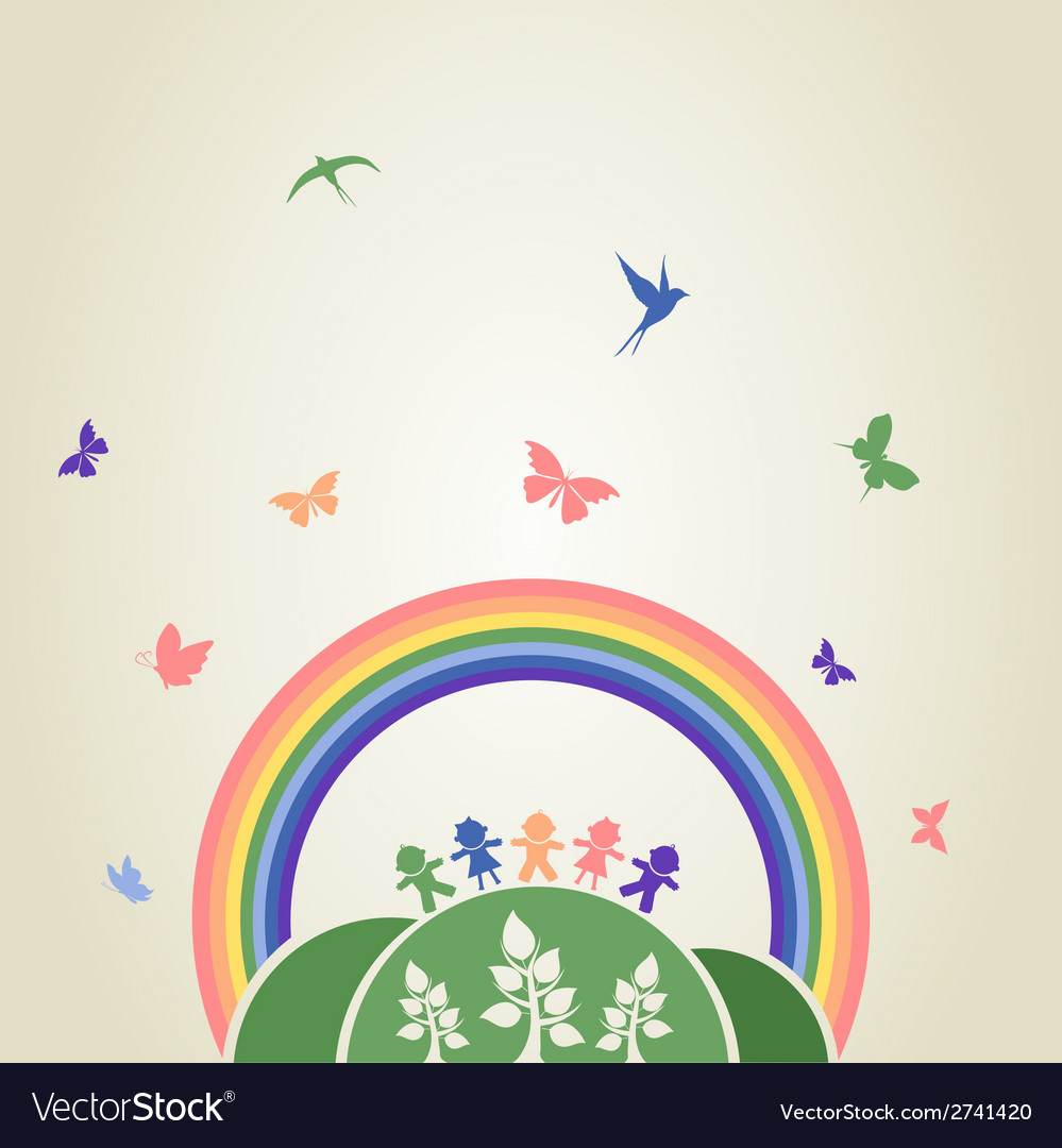 Children rainbow vector | Price: 1 Credit (USD $1)