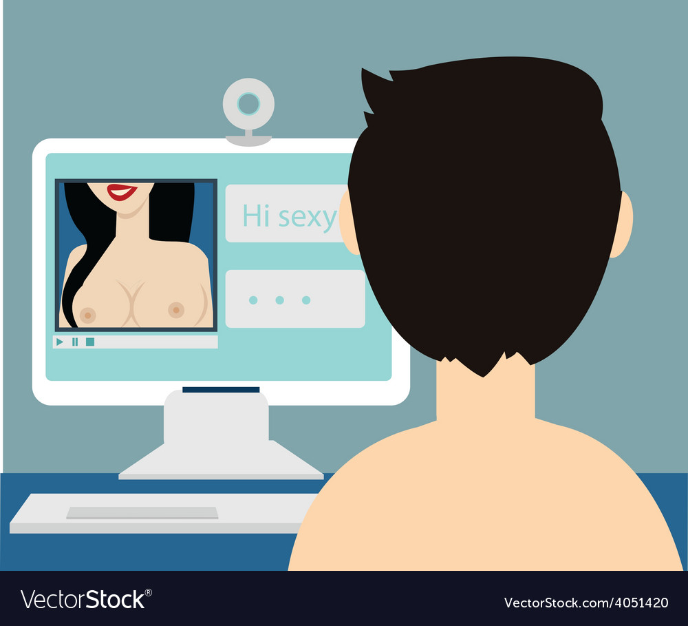 Erotic nude online dating sexy chat vector | Price: 1 Credit (USD $1)